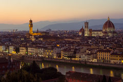 Florence dusk view Stock Photo