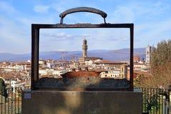 Florence in een koffer Stock Afbeelding