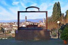 Florence in een koffer Stock Fotografie