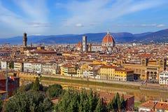 Florence in een zonnige dag stock foto