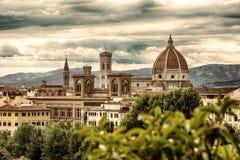 Florence en bergen royalty-vrije stock afbeelding