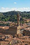 Florence en Palazzo Vecchio royalty-vrije stock afbeelding