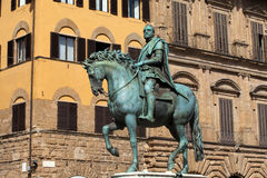 Florence. The equestrian statue of Cosimo I de Medici Royalty Free Stock Photos