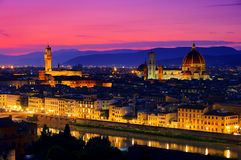 Florence evening Royalty Free Stock Images