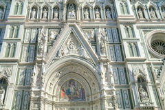 Florence. The facade of the cathedral of Santa Maria del Fiore Stock Image
