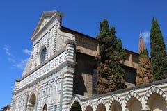 Florence facade of Church called Santa Maria Novella near the tr Royalty Free Stock Photography