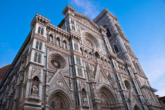 Florence Facade of the Duomo Stock Images
