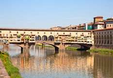 Florence. Famous old bridge in Florence, Italy royalty free stock image