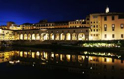 Florence or Firenze city night landscape Italy royalty free stock photos