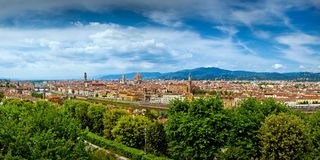 Florence (Firenze) Italy. Cityscape aerial panorama royalty free stock photo