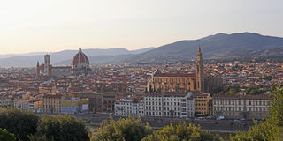 Florence (Firenze) Italy city view Royalty Free Stock Images