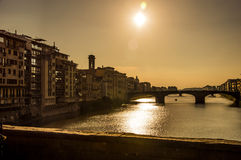 Florence Firenze Italy. View from Ponte Vecchio stock images