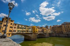 View of Ponte Vecchio in Firenze Florence, Tuscany, Italy stock image