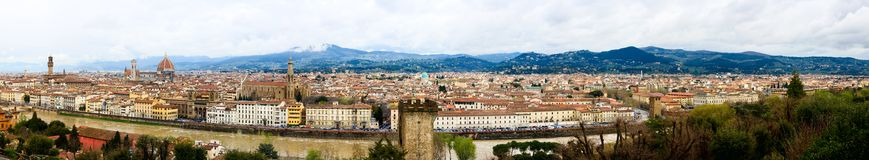 Florence - Firenze - Panorama from San Miniato Stock Image