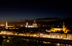 Florence Firenze, Toscany, Italien natt Royaltyfria Foton