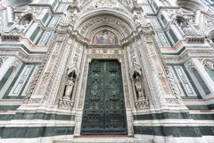 Florence (Firenze). Florence (Firenze, Tuscany, Italy): the cathedral facade Stock Images