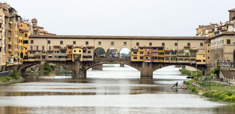 Florence (Firenze). Florence (Firenze, Tuscany, Italy): the historic bridge known as Ponte Vecchio, over the Arno river Royalty Free Stock Image