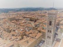 Florence Firenze vanaf de bovenkant stock foto