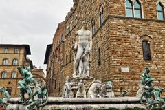 Florence Fountain of Neptune Stock Image