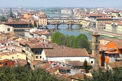 Florence från den Piazzale Michelangelo synvinkeln Royaltyfria Bilder