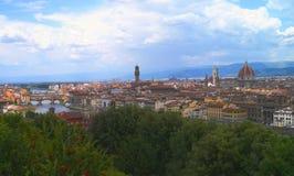 Florence från Piazzale Michelangelo Royaltyfri Fotografi
