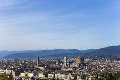 Florence från San Miniato almonte, Florence, Italien Arkivfoto