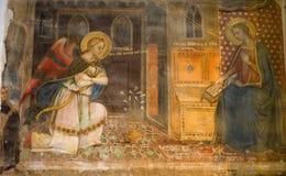 Florence - fresko van Aankondiging stock foto