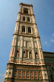 Florence Giotto bell tower from Piazza del Duomo, Italy Stock Photos