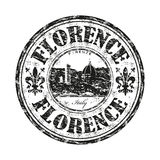 Florence grunge rubber stamp. Black grunge rubber stamp with the name of Florence city the capital of the Italian region of Tuscany and of the province of Stock Image