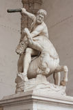 Florence - Hercules beating the centaur Nessus. Sculpted from one solid block of white marble in 1599 royalty free stock photo