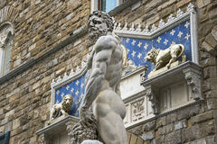 Florence Hercules and Cacus Royalty Free Stock Images