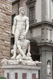 Florence - Hercules and Cacus by the Florentine artist Baccio Ba. Hercule and Cacus in Florence, Italy royalty free stock photo
