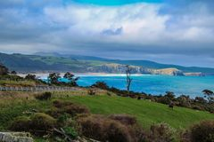 Florence Hill Lookout no Catlins, ilha sul, Nova Zelândia fotos de stock