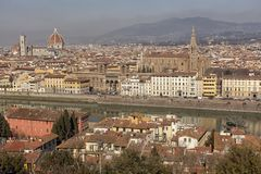 Florence. City landscape. places of Interest. Attractions. Florence. The historical center of the old city Royalty Free Stock Images