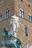 Florence historical fountain with the statue of Neptune Royalty Free Stock Photography