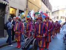 Florence, historische Parade Stock Afbeelding
