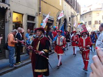 Florence, historische Parade Stock Foto's