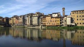 Florence holy trinity bridge, old bridge Ponte Vecchio.  stock video footage