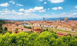 Florence horisont på en solig dag arkivfoto