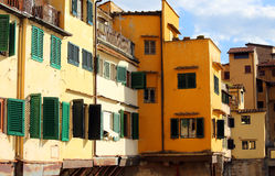 Florence houses and shops in the ancient bridge called Ponte Vec Stock Photo