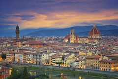 Florence. Image of Florence, Italy during dramatic twilight royalty free stock images