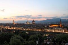Florence, Italië bij schemer royalty-vrije stock afbeelding