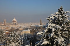 Florence Italië in de winter Royalty-vrije Stock Afbeelding