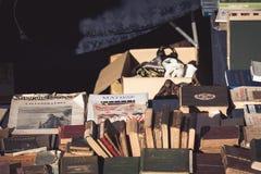 Florence, Italië 02 04 2018: Markt van gebruikte boeken stock foto's