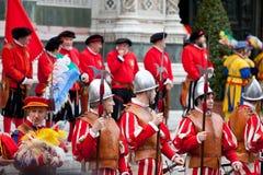 De viering van Pasen in Florence Royalty-vrije Stock Afbeelding