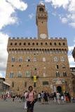 Florence, Itali? - September 03,2017: Het mooie Piazza vierkant van Della Signoria in de blauwe hemel en de wolk royalty-vrije stock afbeeldingen