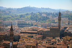 FLORENCE, ITALIE - 20 AVRIL 2010 : Vue aérienne à la ville de Florence Photo stock
