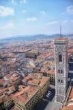 FLORENCE, ITALIE - 20 AVRIL 2010 : Vue aérienne à la ville de Florence Photographie stock