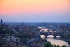 FLORENCE, ITALIE - 19 AVRIL 2010 : Vue aérienne vers Florence Photo libre de droits