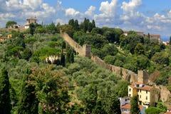 Florence, Italie Belle vue du Piazzale Michaël Angelo Photos stock